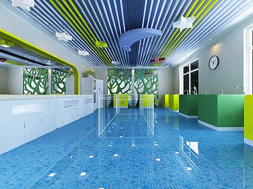 婴儿游泳馆装修实景效果图(供参考)