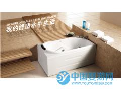 厂家直供1.5米长方形按摩冲浪浴缸独立式亚克力浴缸