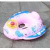卡通泳圈 方向盘带喇叭儿童充气小游艇 婴儿充气警车座艇