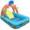 多功能儿童游泳池 带滑梯篮球架充气城堡公园水池婴幼儿游戏水池