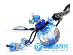 意大利工艺琉璃精油瓶吊坠胎毛链 婴儿纪念品项链 专柜正品