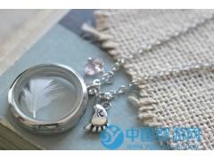 胎发胎毛吊坠纪念品 毛发项链 护身符 DIY婴儿纪念品 玻璃相盒