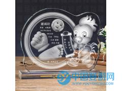 高档卡通手脚印定制婴儿纪念品厂家制作胎毛章手足印鸡年新款礼品