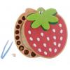 乐木牙屋草莓保存盒宝宝纪念品礼物牙齿收藏盒木制儿童胎毛乳牙盒
