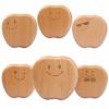 苹果表情牙屋纯手工宝宝纪念品生日礼物儿童胎毛乳牙盒收藏盒批发