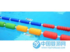 蓝泳牌游泳池泳道线分道线螺旋型浮标隔水线