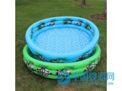 水晶底三环儿童充气水池婴儿游泳池戏水钓鱼池海洋球池