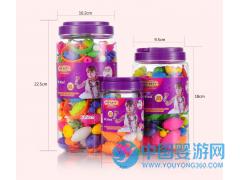 热销儿童礼物智力开发串珠无绳拼插饰品积木玩具600颗