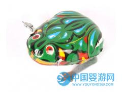 地摊热卖经典玩具上链发条七彩青蛙