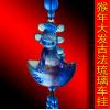 【生产厂家】新款琉璃猴子汽车挂件 猴年婴儿纪念品定做 胎毛制作