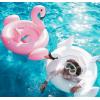 新款火烈鸟双层加厚游泳圈白天鹅儿童坐圈婴儿救生圈宝宝泳圈批发