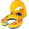 正品遮阳母子圈 婴儿游泳圈腋下圈坐圈儿童船 母子宝宝双人游泳圈