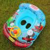 正品带方向盘喇叭宝宝游泳坐圈卡通婴幼儿童方形座圈腋下游泳圈