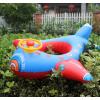 儿童游泳圈水上用品加厚充气方向盘浮艇宝宝飞机扶手座艇救生坐圈