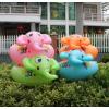 把手式儿童坐圈 婴幼儿游泳圈 宝宝座圈 充气艇 戏水浮圈汽艇