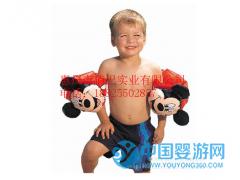 儿童宝宝通用安全加厚双气囊黄水袖学游泳浮圈