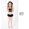 2017汐琪新款儿童泳衣女童可爱裙式分体速干泳衣带帽子