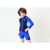 2017汐琪新款儿童泳衣时尚运动款长袖防晒中大童泳衣
