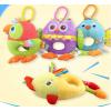 HAPPY MONKEY新款益智毛绒玩具婴幼儿小鸡音乐车挂玩具