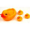 网鸭 戏水鸭 塘胶玩具 叫叫鸭 一大三小