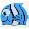 新款泳帽儿童防水防噪音可爱鱼帽硅胶游泳帽