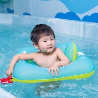 自游宝贝 婴儿游泳圈坐圈 儿童游泳圈双气囊防侧翻防勒不黏皮