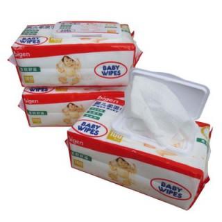 工厂直销 日本贝恩婴儿湿纸巾100抽带盖 宝宝手口湿巾 批发包邮