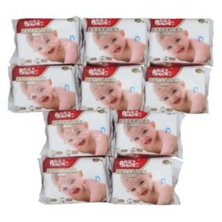 邦可士婴儿湿巾30抽*10包 小包便携手口湿纸巾25+5片装批发
