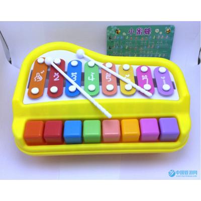 欢乐大木琴手敲琴8音阶婴幼儿音乐早教玩具
