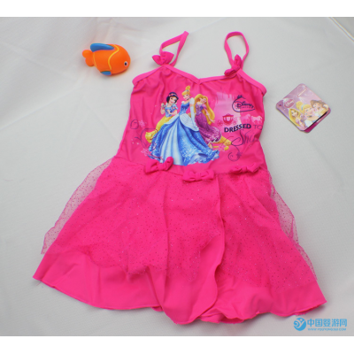 Ocean Fry外贸原单女童泳装宝宝连体游泳衣