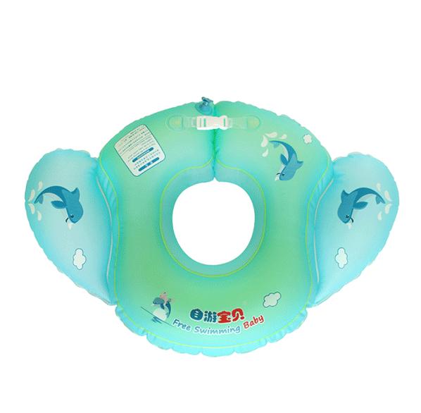 自游宝贝宝宝游泳天使圈4气囊防侧翻婴儿游泳圈