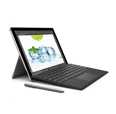 微软Surface Pro 4笔记本电脑(Intel i5 4G内存 128G存储 触控笔 预装Win10)