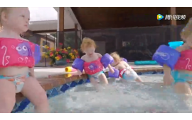 五胞胎宝宝去游泳,小美人鱼们太萌了 (411播放)