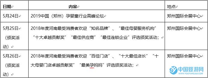 2019第11届中国(郑州)大河新国际孕婴童产品展览会现场活动评选