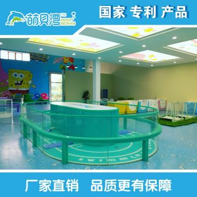 婴儿游泳馆设备钢化玻璃游泳池 全透明钢化玻璃游泳池