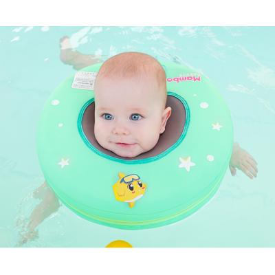 曼波鱼婴儿游泳脖圈0-12个月小孩宝宝免充气防呛新生儿颈圈