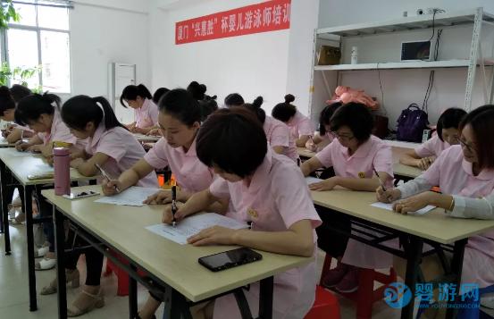 南京汇隽婴儿游泳师培训班上课场景
