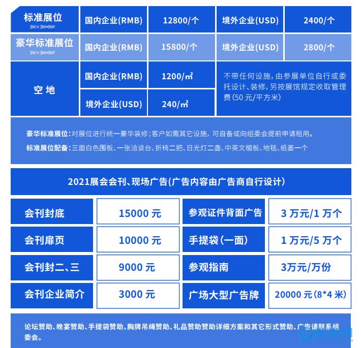 2021年亚洲泳池SPA展(广州)收费标准