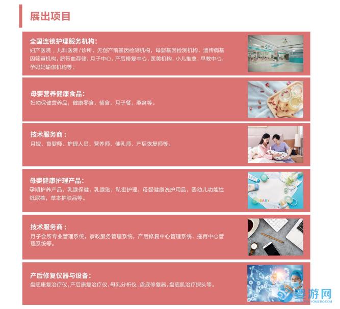 2021中国(北京)国际母婴健康博览会展出项目